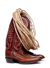 Cowboy Boots and Rope